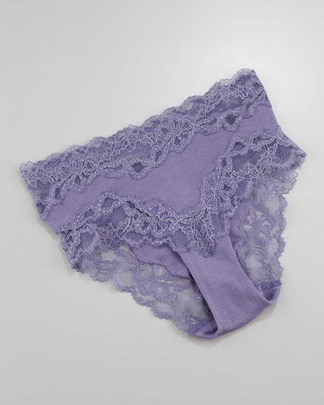 Viola Lace Briefs, Purple