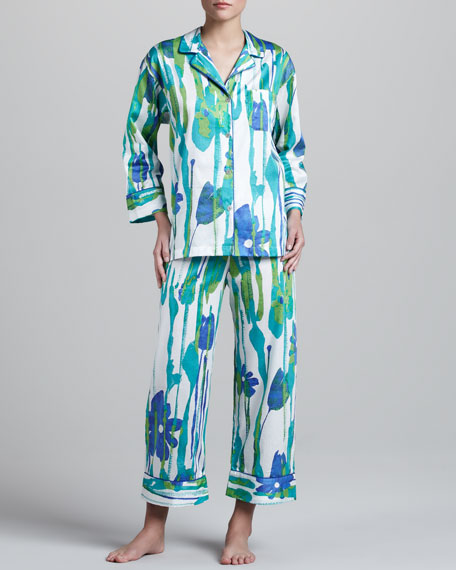 Saya Floral-Print Sateen Pajamas