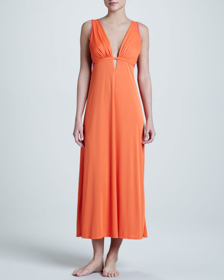 Natori Aphrodite Plunging Knit Nightgown, Mandarin