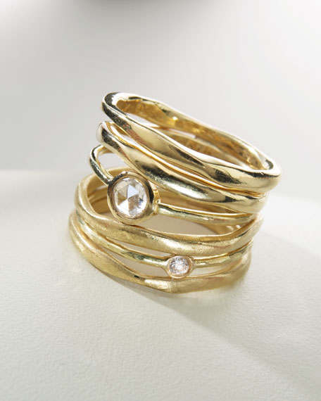 Stack Ring with Diamonds, Size 7