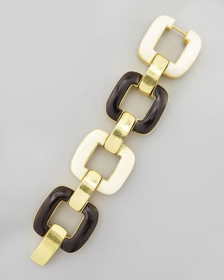 Chunky Bone & Ebony Bracelet