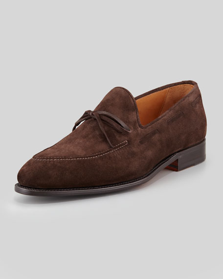 Desica Suede Front-Tie Loafer