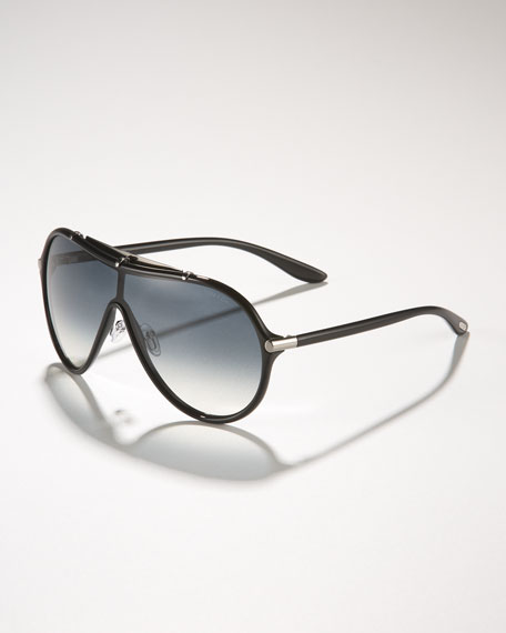 Ace Plastic Shield Aviators, Black