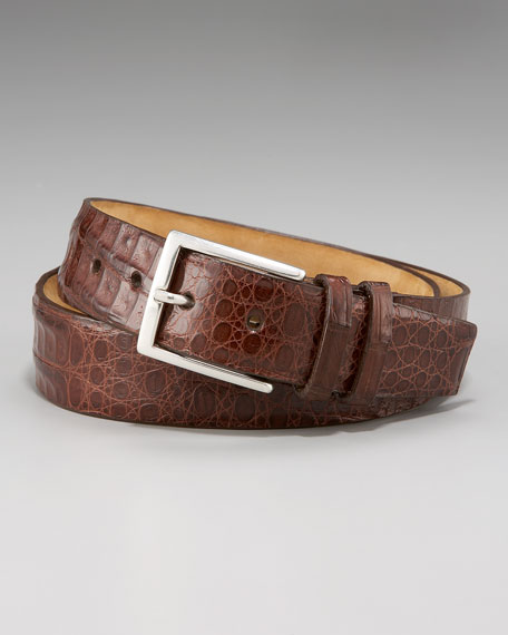 Crocodile Belt, Cognac