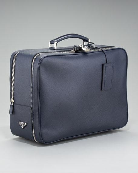 5562628a42f8e6 Prada Saffiano Travel Bag, Blue