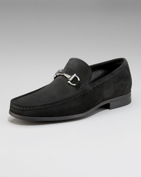 Magnifico Suede Bit Loafer, Black
