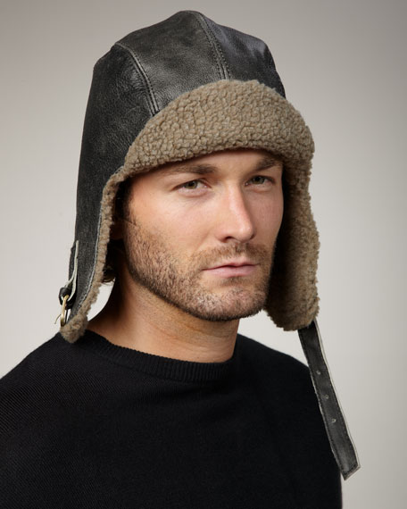 Vintage Sherpa Aviator Hat