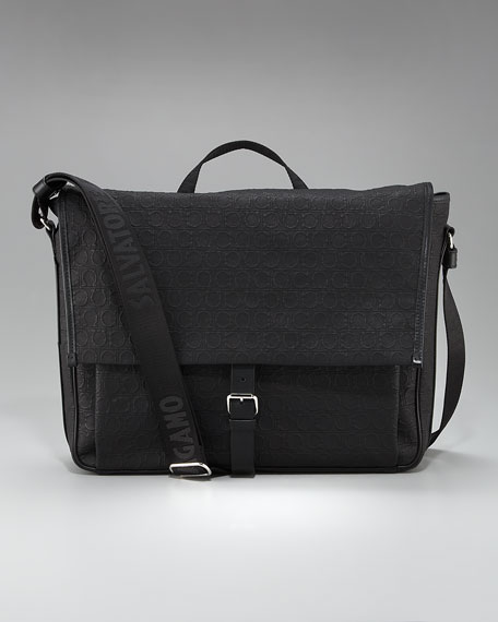 Miami Linen Messenger Bag