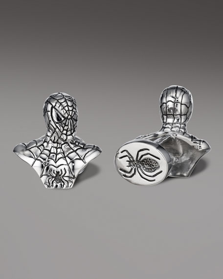 Spiderman Bust Cuff Links
