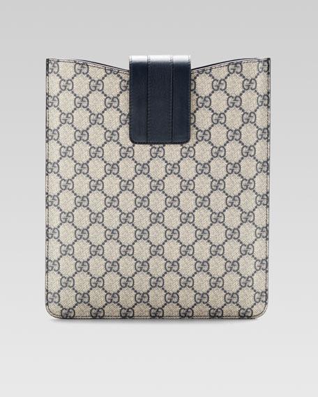 GG Plus iPad® Case, Beige/Blue