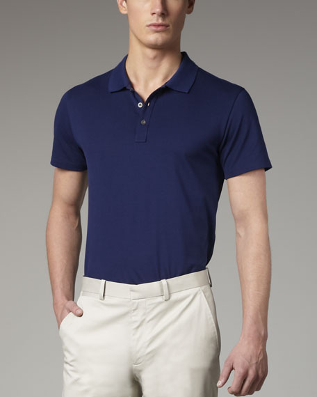 Classic Pique-Knit Polo, Prussian Blue