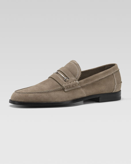 Dale Suede Bit Loafer, Pale Khaki