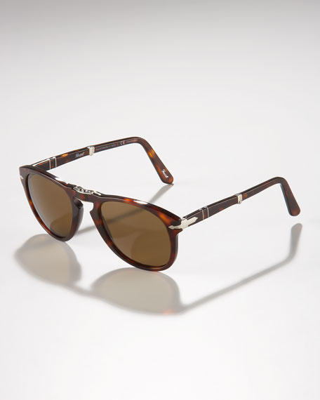 Polarized Folding Sunglasses, Havana