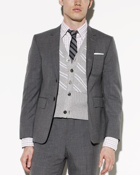 120s Wool Jacket, Medium Gray