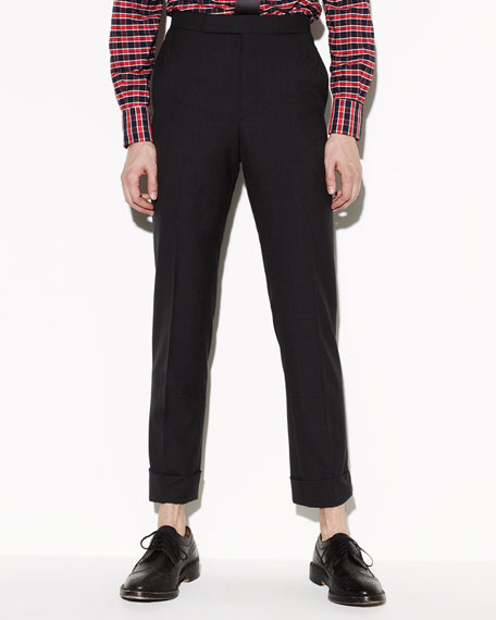 120s Wool Trousers, Charcoal