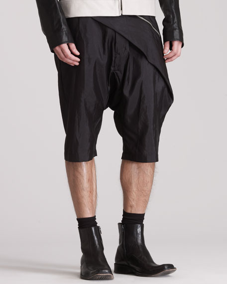 Draped Swing Shorts