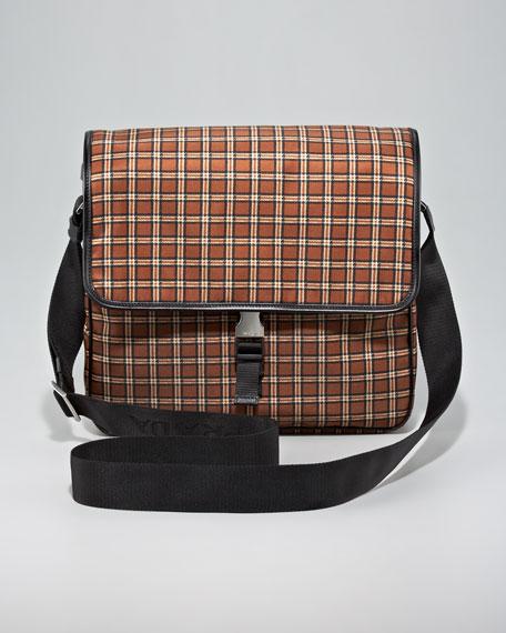 Runway Plaid Messenger Bag