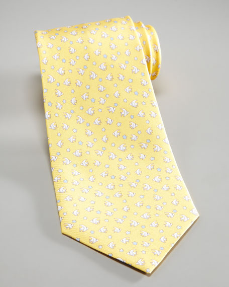 Fish & Starfish Silk Tie