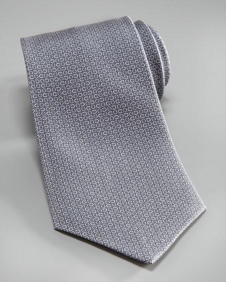 Mini-Gancini Tie, Gray