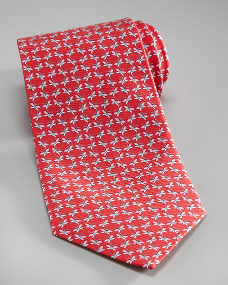 Butterfly Silk Tie, Red