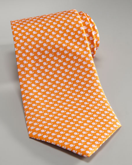 Snails Tie, Orange