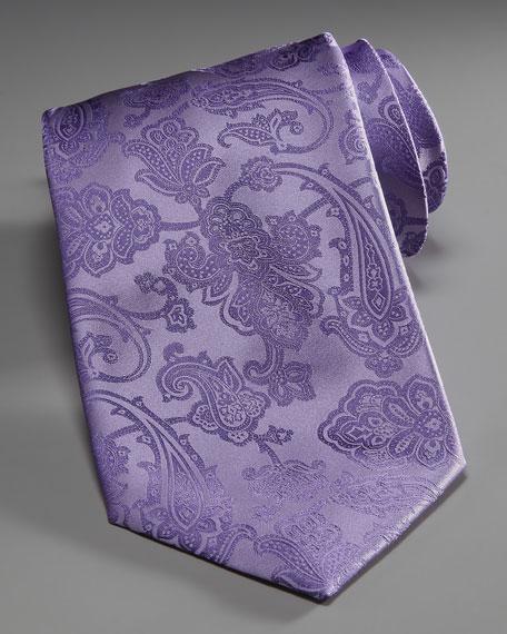 Paisley Silk Tie, Lavender