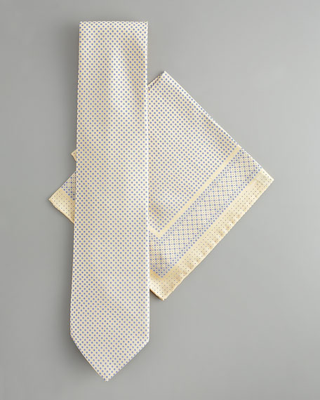 Mini-Flower Silk Tie & Pocket Square Set