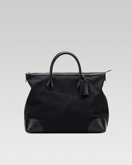 Zip-Top Diamante Tote Bag