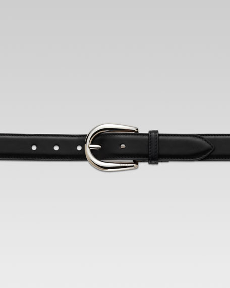 Leather Belt, Black