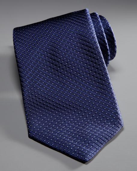 Woven Neat Tie, Navy