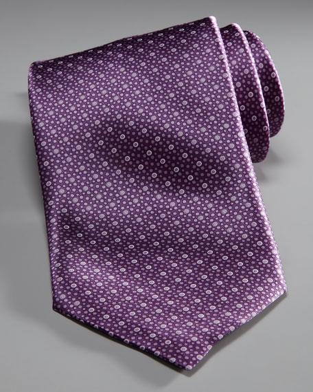 Mini-Bubbles Silk Tie
