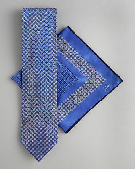 Mini Medallion Tie & Pocket Square Set