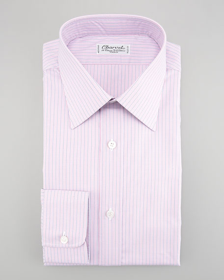 Check Dress Shirt, Pink/Blue