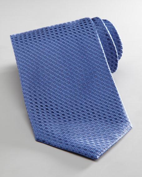 Tonal Dot-Print Tie, Navy