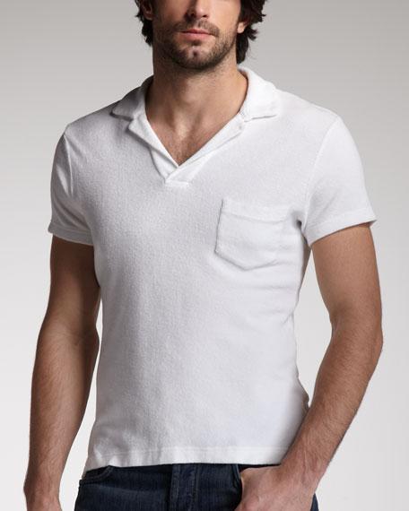 Terry Towel Polo, White