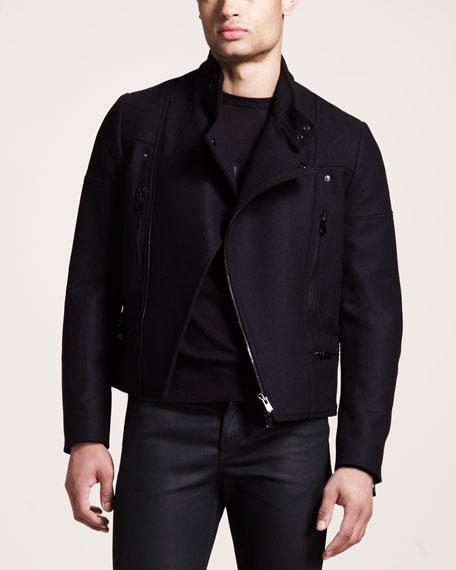 Wool-Blend Biker Jacket