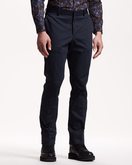 Contrast-Waist Trousers