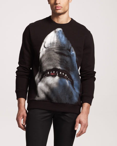 Shark-Print Sweatshirt