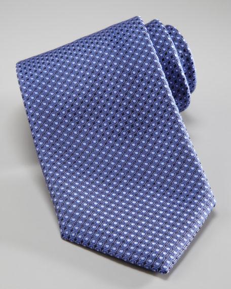 Tonal Dots Woven Tie, Navy