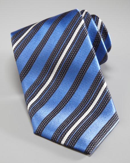 Striped Tie, Blue Multi