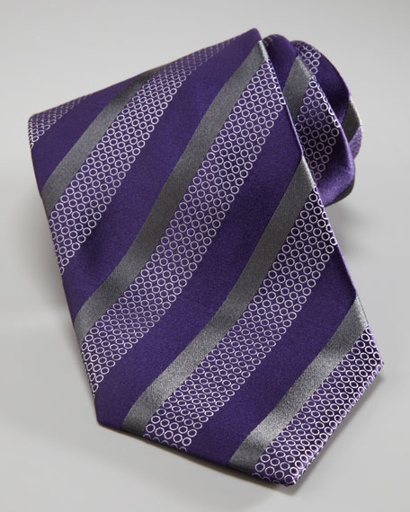 Dots & Stripes Tie, Purple