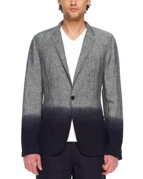 Dip-Dye Linen Blazer