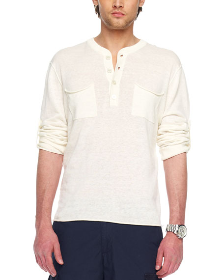 Roll-Sleeve Henley
