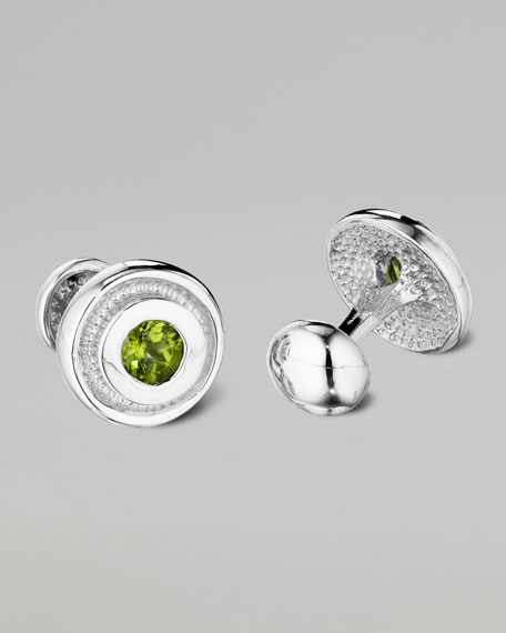 Peridot Bearing Cuff Links