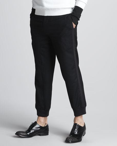 Grosgrain-Trim Cropped Pants