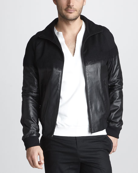 Leather/Cashmere Jacket