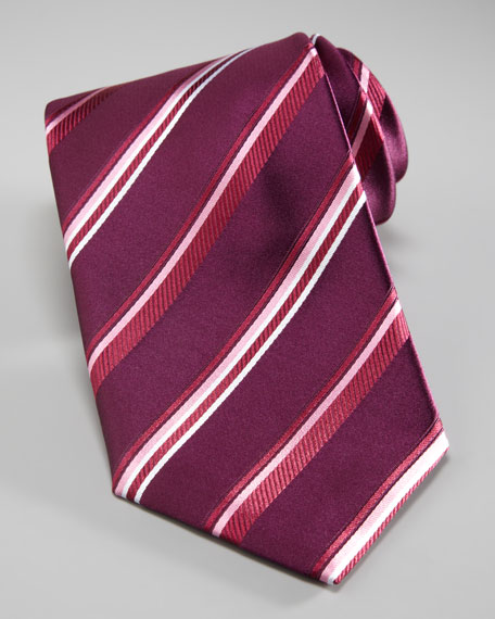 Striped Tie, Magenta