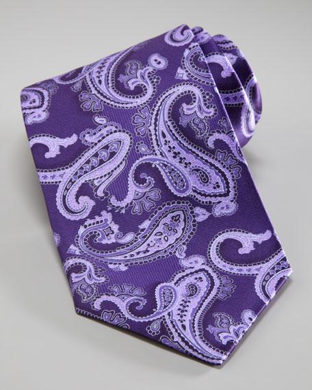 Paisley Print Tie, Purple