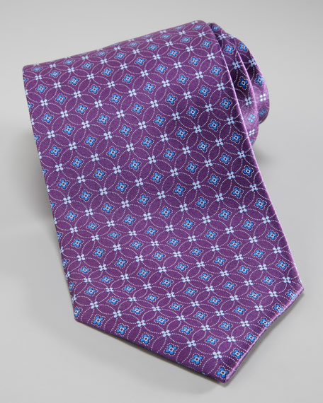 Interlocking Flower Tie, Purple