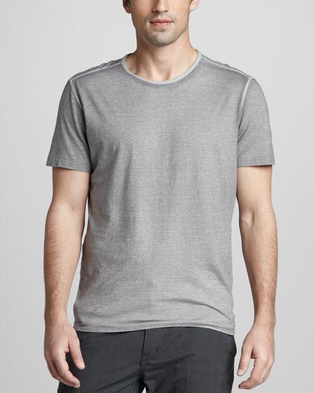 Reverse-Print Tee, Light Gray